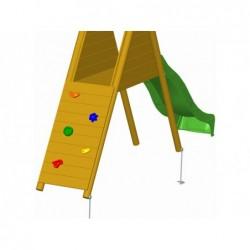 Rampa D'escalade 119x61 Cm. Pour Aire De Jeux Masgames Ma700013 | Piscineshorssolweb
