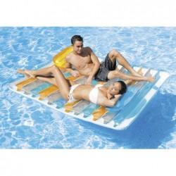 Matelas Gonflable Pour Piscine Double Lounge 198 X 160 Cm | Piscineshorssolweb
