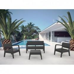 Mobilier de Jardin Set Modèle Miami Anthracite SP Berner 55393 | Piscineshorssolweb