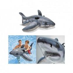Requin Blanc Gonflable Intex 57525 De 173x107 Cm | Piscineshorssolweb