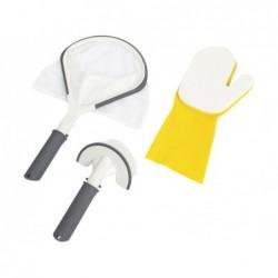 Kit Lay-Z-Spa avec épuisette, brosse et gants pour Ligne de flottaison Bestway 60310