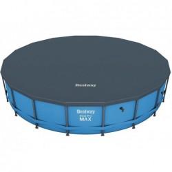 Bâche De Protection Pour Piscine Bestway Steel Pro Tubulaire Circulaire Ref 58039 549 Cm Diametre